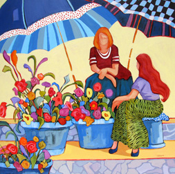 """Sales are Bright"" painting by Carolee Clark"