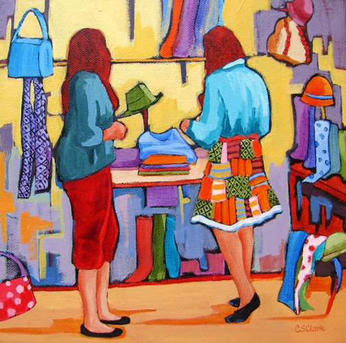 Fashion Fix - painting by Carolee Clark