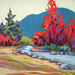 Chilcoot Creek - painting by Carolee Clark