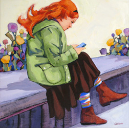 """Concentration"" painting by Carolee Clark"