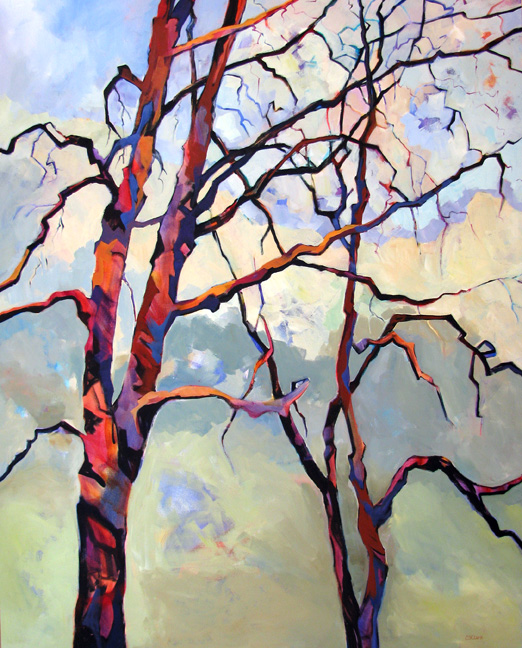 Entanglements, tree painting by Carolee Clark