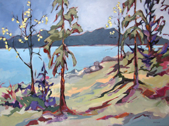 At the Lake - painting by Carolee Clark